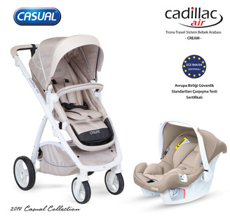 CASUAL - Cadillac Air Trona Travel Sistem Bebek Arabası - Cream