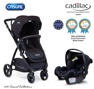 CASUAL - Cadillac Trona Travel Sistem Bebek Arabası - Black