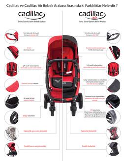 Cadillac Trona Travel Sistem Bebek Arabası - Black - Thumbnail