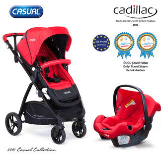 CASUAL - Cadillac Trona Travel Sistem Bebek Arabası - Red